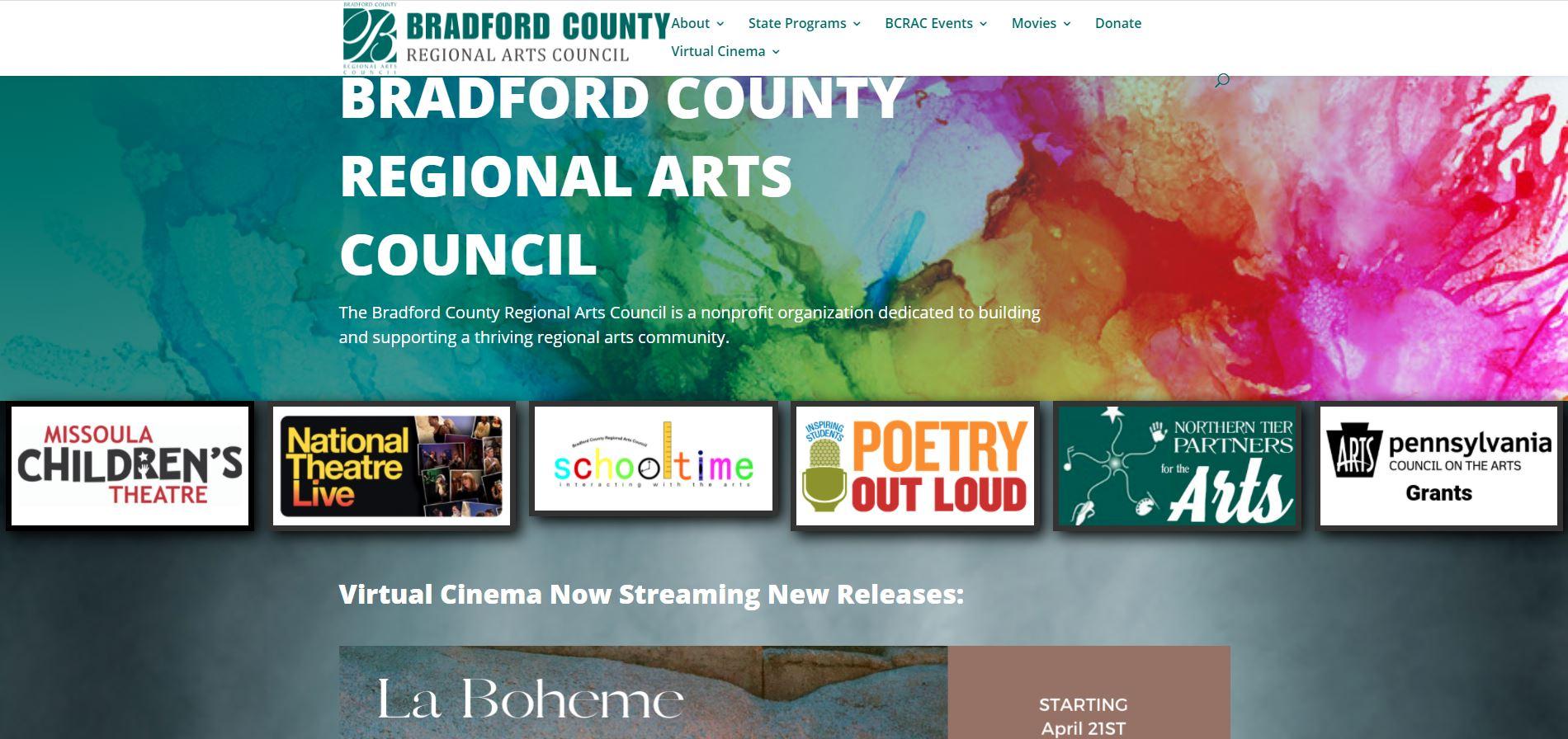 bradford county regional arts council